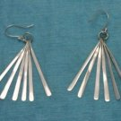 Sterling Silver Long Dangle Earrings .925 Taxco Mexico