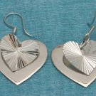 Sterling Silver Heart Dangle Earrings .925 Taxco Mexico