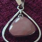 Sterling Silver Mother Pearl Rose Pendant Taxco .925