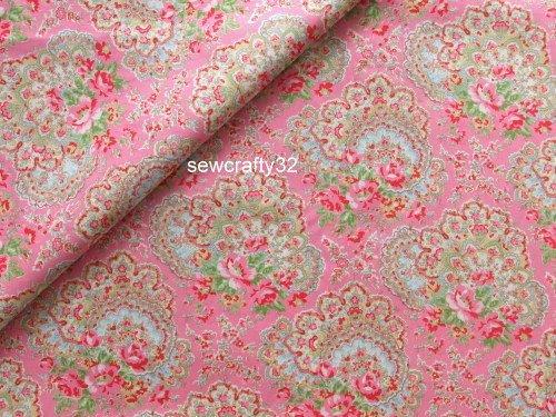 Paisley Pink FQ ~ Cath Kidston Haberdashery Fabric