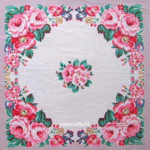 Cath Kidston Stone Rose Hankie Fabric 60cm x 130cm