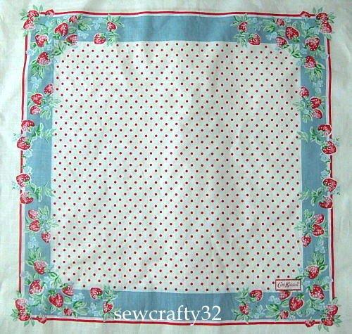 Cath Kidston Strawberry Hankie Fabric 60cm x 130cm