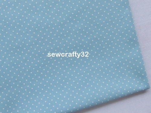 Mini Dots Pale Blue FQ ~ Cath Kidston Cotton Duck Fabric