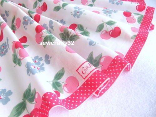 Cath Kidston Cherry Hankie Fabric 60cm x 130cm