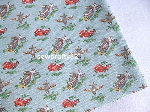 Transport Blue 75cm x 144cm ~ Cath Kidston Cotton Duck Fabric