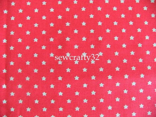 Tiny Stars Red 1M ~ Cath Kidston Cotton Duck Canvas Fabric