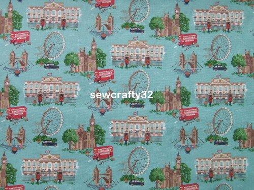 London Blue 1 M ~ Cath Kidston Cotton Duck Fabric