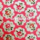 Provence Rose Red 1 M ~ Cath Kidston Haberdashery Fabric