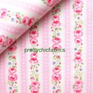 Ribbon Stripe Pink 1 M ~ Cath Kidston Cotton Duck Fabric