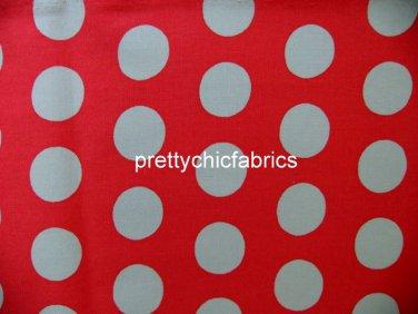 Big Spot Red 1 M ~ Cath Kidston Cotton Duck Fabric