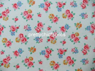 Freston Rose White 1 M ~ Cath Kidston Cotton Duck Fabric
