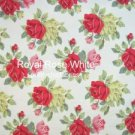 Restocking Royal Rose White 1 M ~ Cath Kidston Cotton Duck Fabric