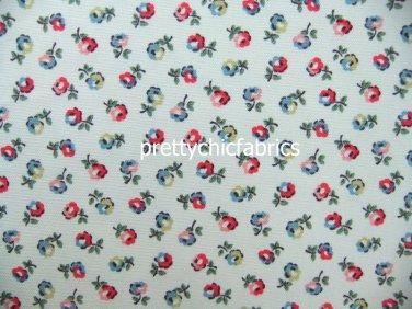 Elgin Ditsy White Cotton Duck 1 M ~ Cath Kidston