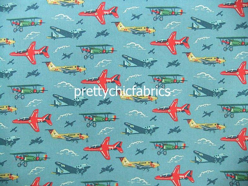 Planes Cotton Duck 1 M ~ Cath Kidston