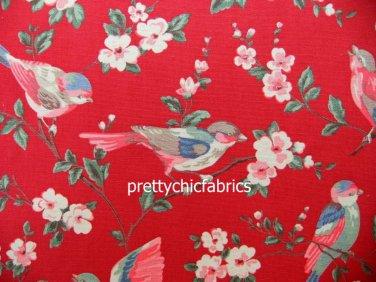 2015 Garden Bird Red Cotton Duck 1 M ~ Cath Kidston