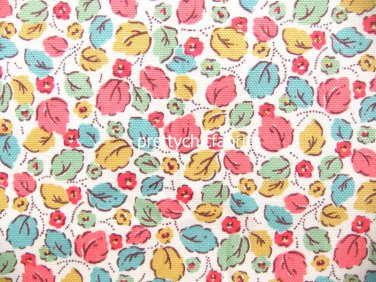 2015 Little Leaves Bright Cotton Duck 1 M ~ Cath Kidston
