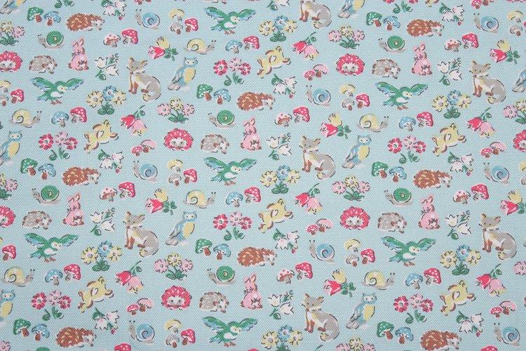 Forest Animals Blue Cotton Duck 1 M ~ Cath Kidston