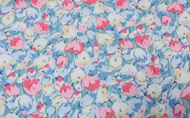 Painted Tulips Cotton Duck 1 M ~ Cath Kidston
