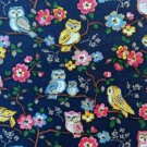 Owls & Flowers Cotton Duck 1 M ~ Cath Kidston