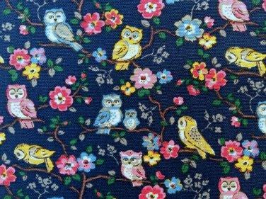 Owls & Flowers Cotton Duck 1 M ~ Cath Kidston