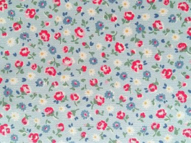 Little Flower Buds Blue Cotton Duck 1 M ~ Cath Kidston