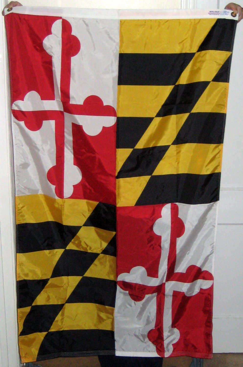 Maryland State Flag 3 x 5 Feet Nyl Glo Annin and Company Nylon Bunting Grommets Old Line
