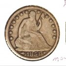 1854O (F) SEATED LIBERTY HALF DOLLAR (M04) ARROWS