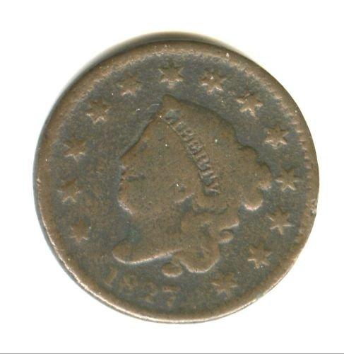 1827 (AG) LARGE CENT (M05)