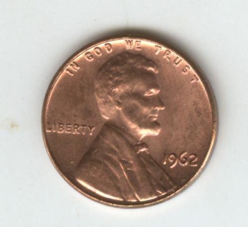 1962P (BU) MEMORIAL LINCOLN PENNY (EB1530)