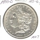 1890S (BU+) MORGAN DOLLAR (M07) SILVER