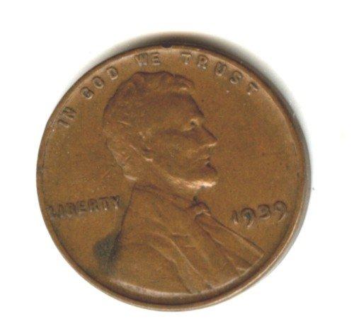 1939 (VF) LINCOLN PENNY (EB1489)