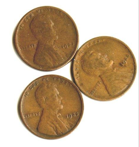 1923,1925,1928  LINCOLN PENNIES (EB1418) 3 COINS