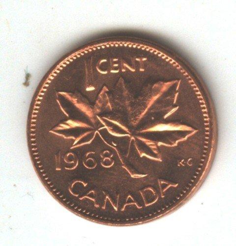 1968 Choice BU Canada Penny 1 Cent (EB1481)