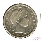 1907D (F) BARBER HALF DOLLAR (M10)
