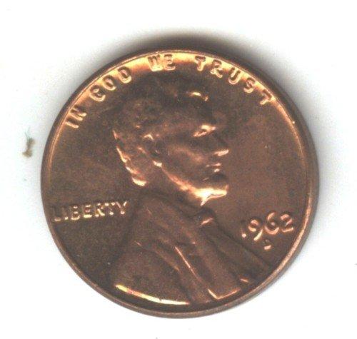 1962D (BU) MEMORIAL LINCOLN PENNY (EB1470)