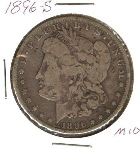 1896S  MORGAN DOLLAR (M10) SILVER