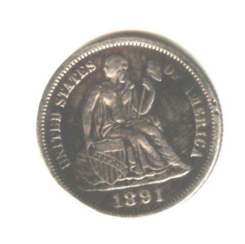1891 (XF) SEATED LIBERTY DIME (W132)