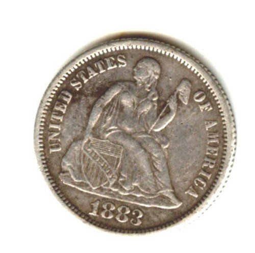 1883 (XF) SEATED LIBERTY DIME (W129) SILVER