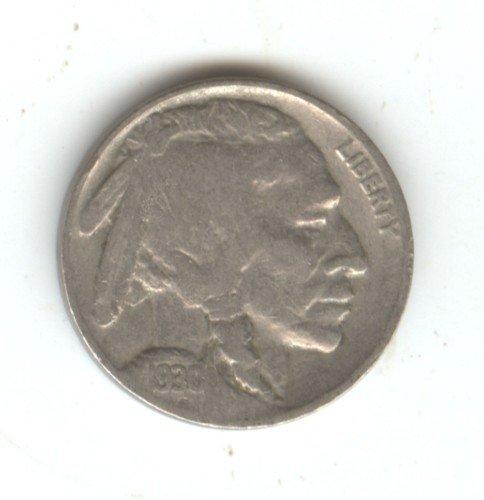 1930 (VG) BUFFALO NICKEL (EB1355)