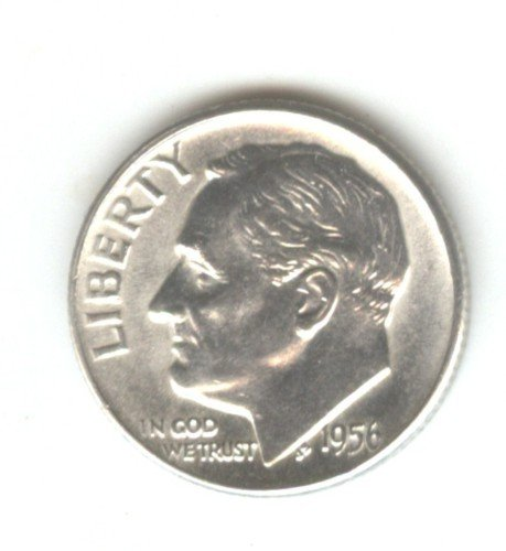 1956D (BU) ROOSEVELT DIME (W109) SILVER