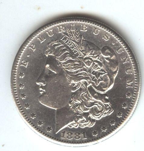 1881S  (AU+) MORGAN DOLLAR (EB1454) SILVER