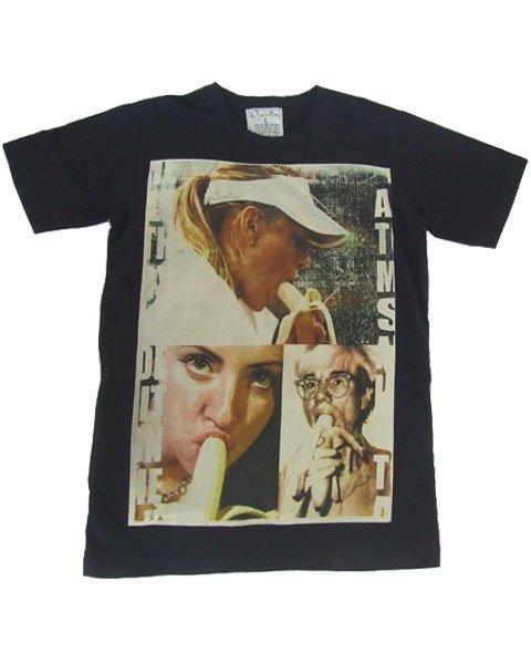 T-shirt  SP03 L Eating Banana Funky Punk Rock Retro Tennis