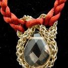 Woven Rose Quartz Necklace