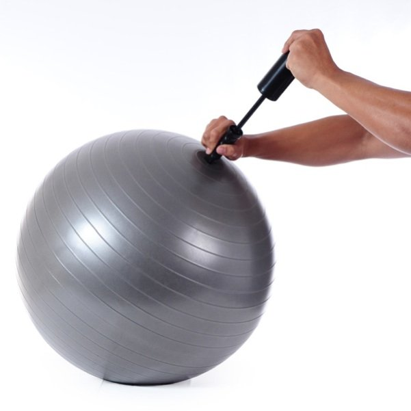 New TKO 55cm Rubber Exercise Fitness Ball w/ Chart Pump