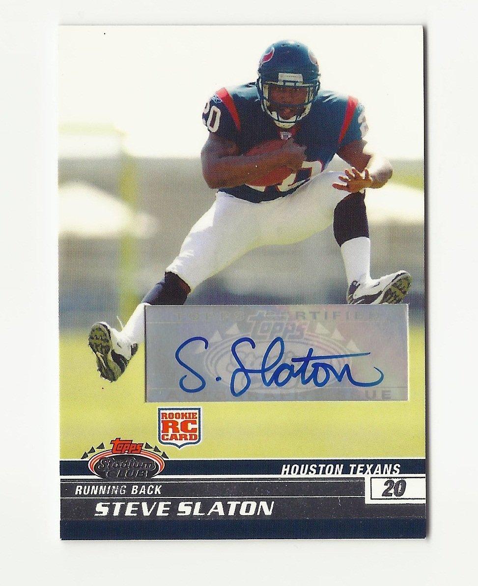 Steve Slaton 2008 Stadium Club Certified Autograph Rookie #121 Houston Texans/Miami Dolphins