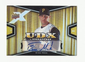 Evan Meek 2008 Upper Deck UDX Autograph Rookie Card #EM Pittsburgh Pirates/Baltimore Orioles