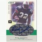 Rudi Johnson 2001 Sage Hit Certified Autograph Rookie #A32 Cincinnati Bengals