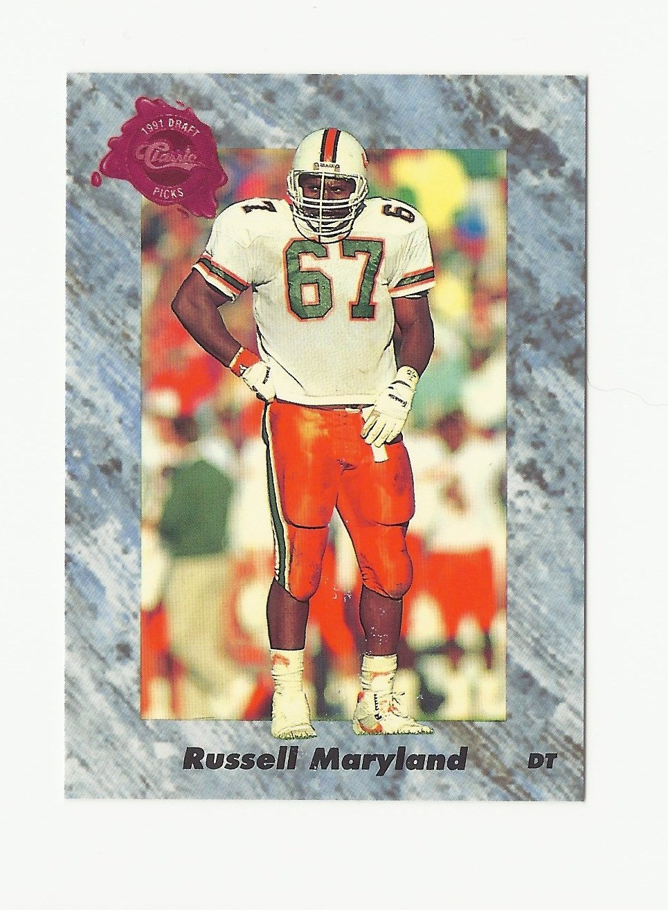 Russell Maryland 1991 Classic Draft Picks Rookie Card #103 Dallas Cowboys