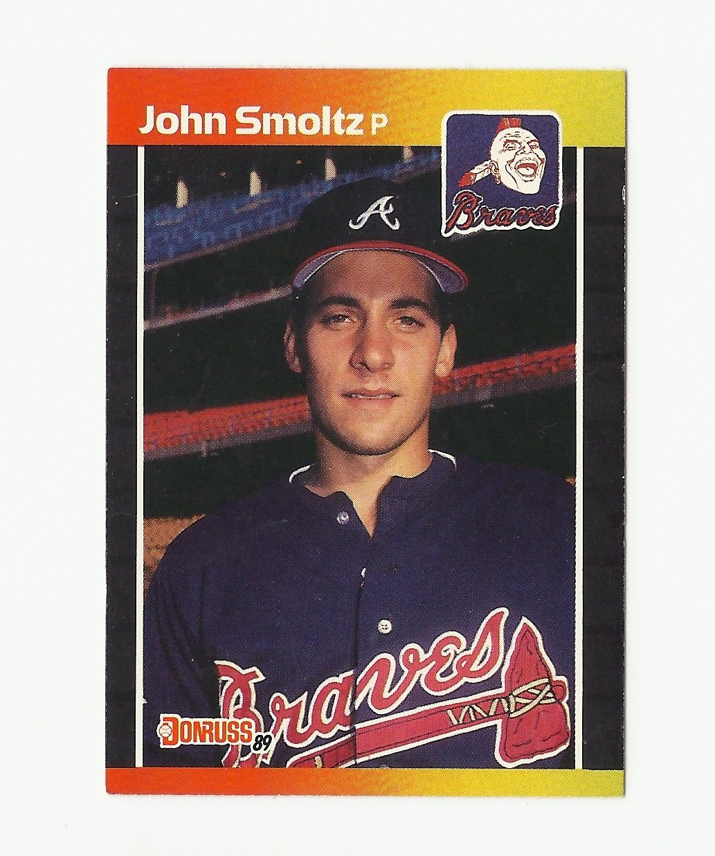 John Smoltz 1989 Donruss Rookie Card 642 Atlanta Braves