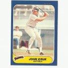 John Kruk 1986 Fleer Update Rookie Card #U-61 San Diego Padres
